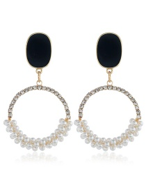 Fashion Black Diamond Earrings With Diamonds