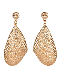 Fashion Gold Alloy Geometry Earrings