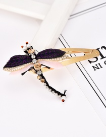 Fashion Color Alloy Felt Cloth Rhinestone Hairpin