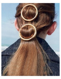 Fashion Gold Round Spring Clip