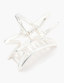 Fashion Matt Silver Geometric Small Five-pointed Star Grab