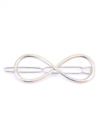 Fashion Character Silver Geometric Three-sided Clip