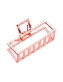 Fashion Rose Gold Rectangular Large Grab