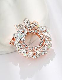 Fashion Multi-color Diamond Glass Drop Butterfly Pin Scarf Buckle Dual Purpose