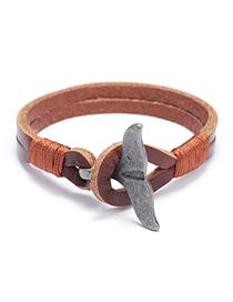 Fashion Brown Whale Tail Alloy Bracelet