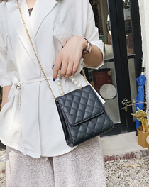 Fashion Black Pearl Linger Shoulder Bag Shoulder Bag