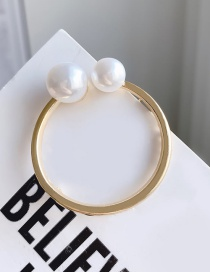Fashion Round Alloy Love Imitation Pearl Hairpin