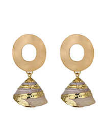 Fashion Gold Natural Conch Earrings