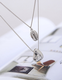 Fashion Silver Metal Shell Necklace Wave