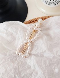 Fashion Bow Tie #a209 Pearl Hairpin