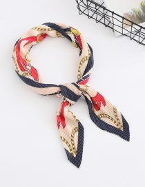 Fashion Color Fringed Pattern Chiffon Crepe Scarf