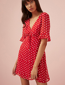Fashion Red Printed Dress