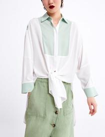 Fashion Green Color Matching Shirt