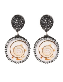 Fashion Silver Alloy Studded Earrings