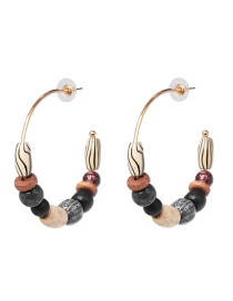 Fashion Black Wooden Earrings