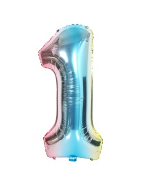 Fashion 1 32 Inch Gradient Digital Aluminum Foil Balloon