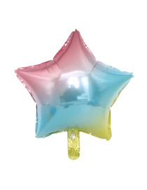 Fashion 18 Inch Five-pointed Star Gradient Balloon Aluminum Foil Balloon