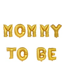 Fashion Gold Mommy To Be Letter Foil Balloon Set