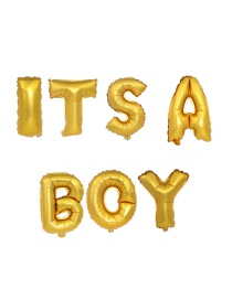Fashion Golden It Sa Boy 16 Inch Letter Foil Balloon