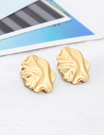 Fashion Gold Irregular Ear Twisted Earrings