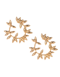 Fashion Gold Alloy Willow Earrings