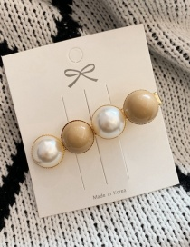 Fashion Pearl Section - Milk Coffee Peas Pearl Hairpin