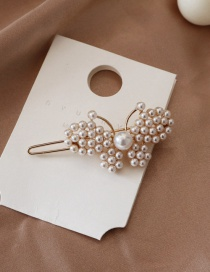 Fashion Clasp Clip - Small Bow Pearl Hairpin