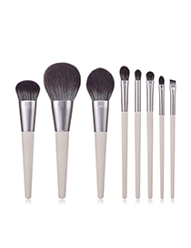Fashion Gray 8 - Cone - Rabbit Ash - Microcrystalline Wire Makeup Brush