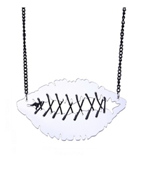 Fashion White Mouth Pendant Necklace