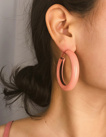 Fashion Pink Hollow Ring Earring