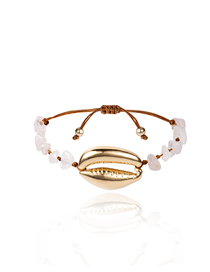 Fashion Pink Shell Natural Stone Alloy Adjustable Bracelet