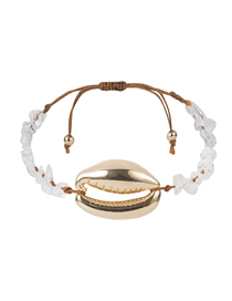 Fashion Transparent Color Natural Stone Large Shell Bracelet