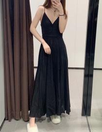Fashion Black Bow Dress