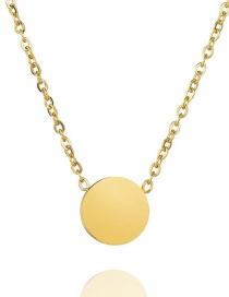 Fashion Compact Color Round Glossy Necklace