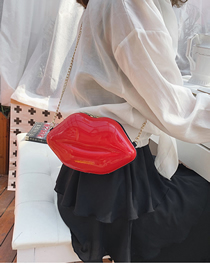 Fashion Red Lips One-shoulder Painted Crossbody Bag