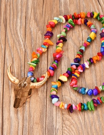 Fashion Color Alloy Natural Stone Cow Head Necklace