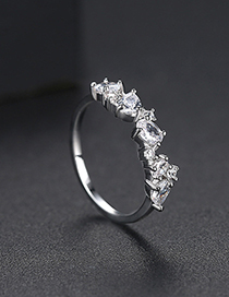 Fashion Platinum Micro-inlay Ring