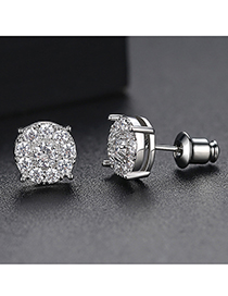 Fashion Silver Disc Earring