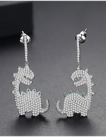 Fashion Silver Dinosaur Earring