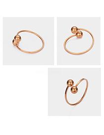 Fashion Rose Gold Adjustable Ball Ring