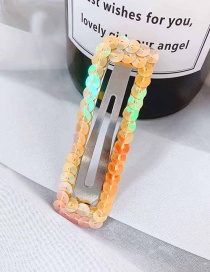 Fashion Orange/rectangle Sequins Sequins Hair Clip