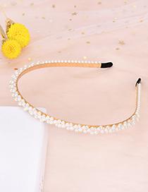 Fashion A Alloy Pearl Headband