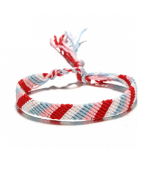 Fashion H Section Weaving Three Raw Rope Bracelet