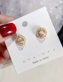 Fashion Beige Pearl Earrings