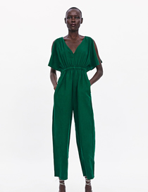 Fashion Green Printed Jumpsuit