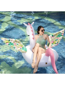 Fashion Flower Wings Candy Horse Mount Inflatable Floating Row Mount Swimming Ring