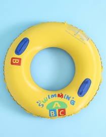 Fashion 100cm Handle Swim Ring Imprinted Abc Inflatable Swimming Ring