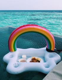 Fashion Rainbow Ice Bar Inflatable Water Coaster