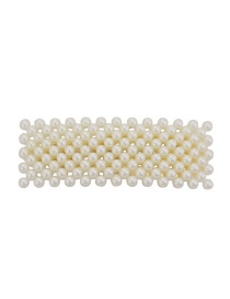 Fashion B Pearl Geometric Hair Clip