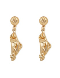 Fashion Gold Twisted Face Silver Pin Stud